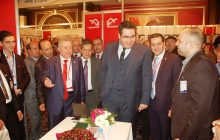 The Minister of Economy and Foreign Trade participate in the opening of Khan silk exhibition hosted by the Aleppo Chamber of Industry Checkers Hotel in Rose Damascus